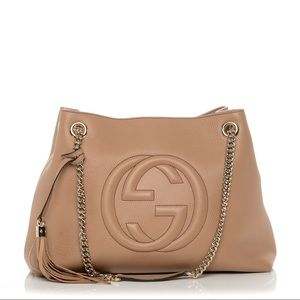 Gucci Soho Shoulder Bag Tan